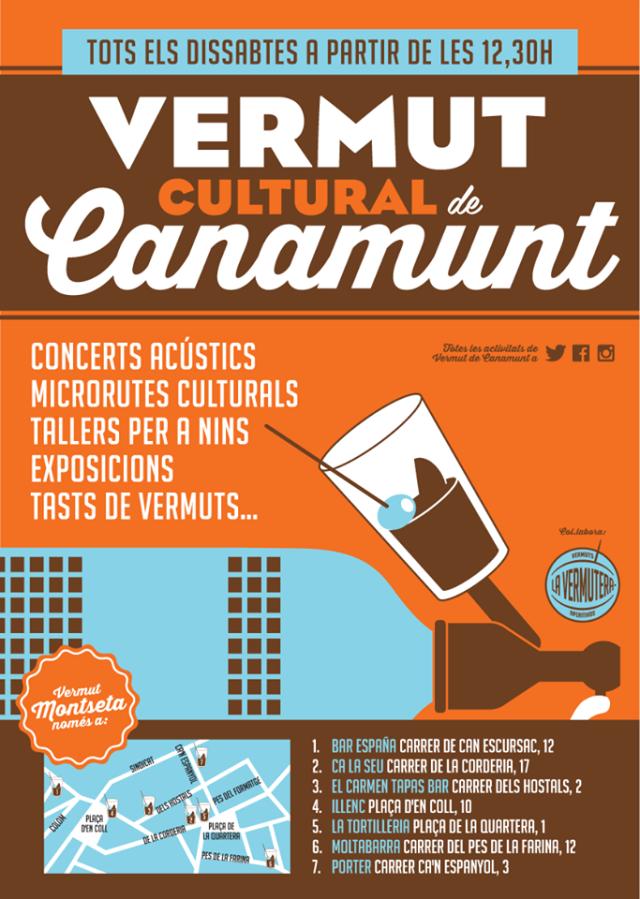 Cartel vermut de Canamunt